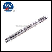 Segment screw and barrel/parallel double screw and barrel for plastic pelletizing)