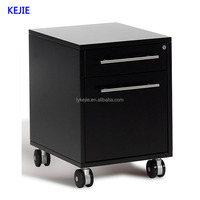 Aisa Hot Selling A5 File Table Pedestal Thin Rims Mobile Drawer Hanging Cabinet Steel Storage Chest with 4 casters