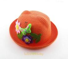baby toddler kids lovely sun flower paper decorations children straw hats caps