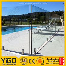 exterior swimming pool railing profile glass fence