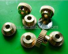 cnc machining brass miniature umbrella gears
