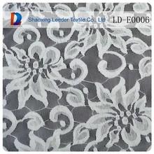 Nuevo diseño eco- ambiente adorno de tela de encaje de nylon tejido de encaje para venta al por mayor de prendas de vestir