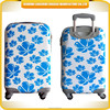 flower printed luggage case, elegant and freshness trolley luggage travel case
