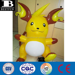 inflatable pokemon toys inflatable raichu plastic carton characters shaped inflatables