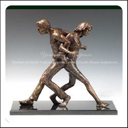 Outdoor Decorative Life Size Sport Bronze Sculpture For Garden Decor