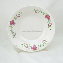 nice prints porcelain soup plate with round edge/Restaurant hotel rental service dinner plate