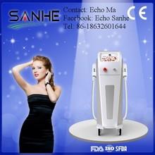 2014 New Designed double handle pieces Elight + IPL+SHR best elight ipl hair removal machine