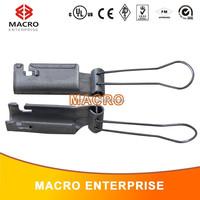 Aluminum coaxial messenger cable drop clamp