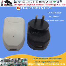 AU plug portable universal USB travel charger for android tablet 5V 1A