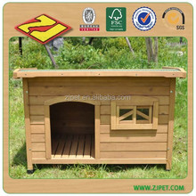 flat roof wooden dog house wood DXDH001