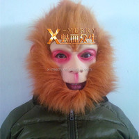 X-MERRY China Movie Famouse Role Brown Hair Full Face Mask Deluxe Customize Animal Mask