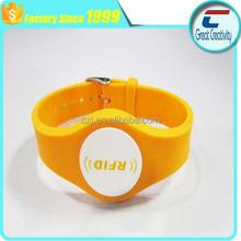 waterproof TK4100 silicone rfid wristband/custom printing watch style silicone 125khz rfid wristband