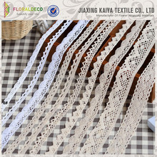 White Ribbon Clothing Decoration Material Cotton Lace