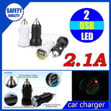 2.1A mini custom dual usb car charger adapter for iphone 5 5s 6