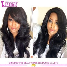 Fashion wavy 100% virgin hair cheap lace front wig side part lace front wig with baby hair