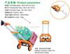 Colorful Folding Luggage Cart with Aluminum Body