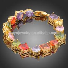 Fashion 24carat 22k gold jewellery dubai 2015 crystal tennis bracelet