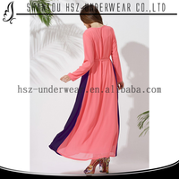 MD10008 Classic vintage multi color muslimah dresses women chiffon long dressing in islam ladies sweet maxi dresses muslim