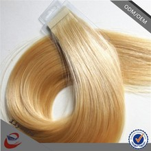 100 Human Hair Weave 12-30 inch straight double sided tape for hair extension