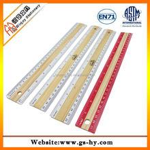 Promotion 30cm metal edge wooden ruler