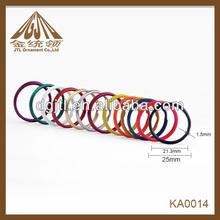 Fashion high quality 1 inch colored split keyrings