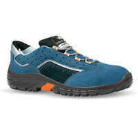 EN 20345PU solo suede holed leather electrical safety shoes with anti-perforation function