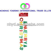 Christmas wall sticker for holiday decoration animal gel sticker