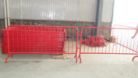 Galvanized or Powder coated crowd control barrier/ temporary fence barrier/steel pipe barrier