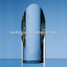 custom design crystal award cylinder