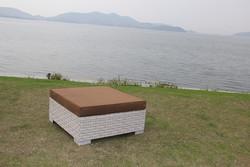 New Style Royal Aluminium Furniture Garden furniture set Ottoman