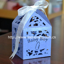 """Lovely Party Decorations! """"Baby Boy"""" Baby Favors Box With Free Ribbon From Mery Crafts"""
