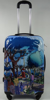 Cartoon Print 4 WHEELS EXPANDABLE SPINNER CARRY-on SIZE ABS TROLLEY LUGGAG