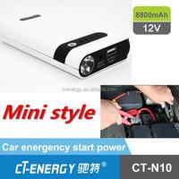12v portable power bank and car jump starter 8800mah