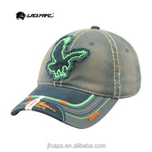applique embroidery eagle cotton fashion style new 2014 beautiful baseball and golf hats and caps made in china
