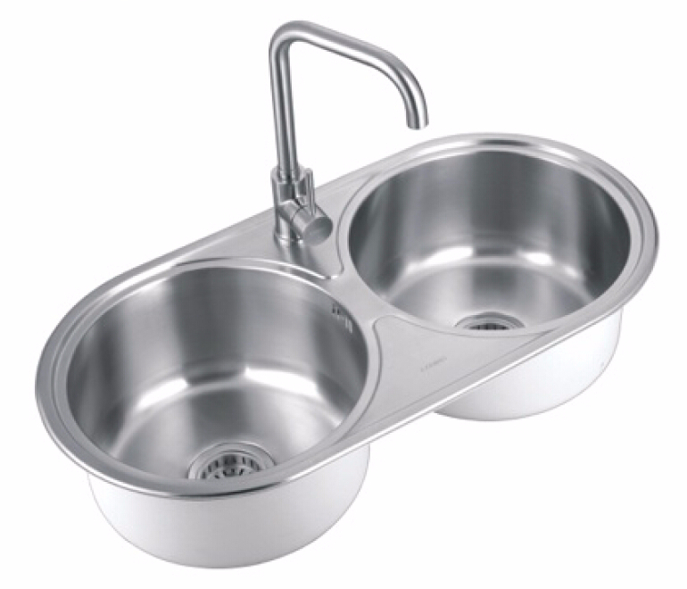 double sink stainless steel wash basin kitchen sink