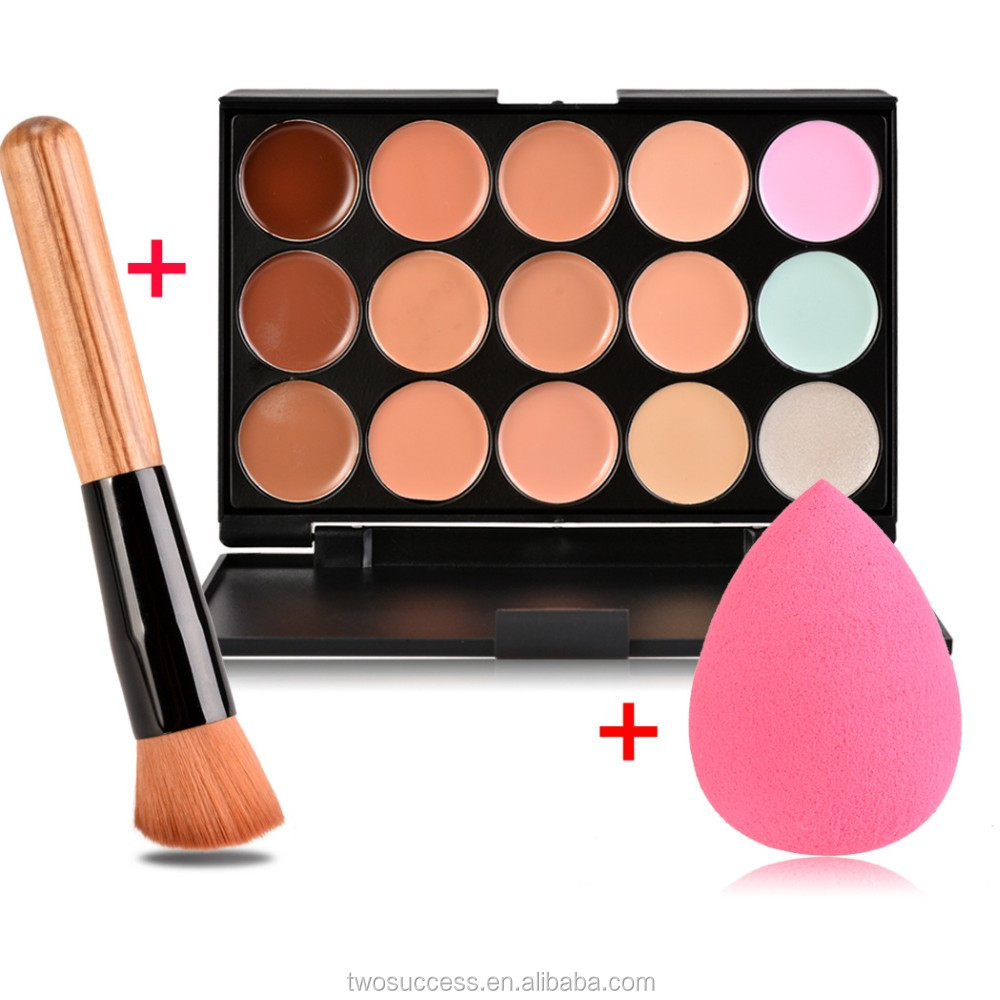 2016 New Professional Concealer Palette 15 Color Concealer Facial Face Cream Care Makeup base Palettes .jpg