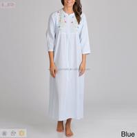 2015 OEM Women's Front Zipper Seersucker Robe