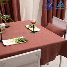 The thick and absorbent 100% flax stone washed linen table cloth
