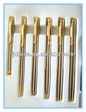 2014 gold metal trimming high end gift roller ball pen set with logo