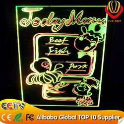 Hot selling LED writing board shops advertising panel with CE & ROHS & FCC new innovation on china market