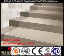 Factory Direct Soluble Salt Ivory White Polished Vitrified Imitation Tiles