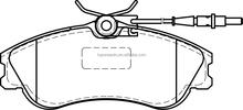 Brake Pad 4251.54 D1190 For PEUGEOT Partner