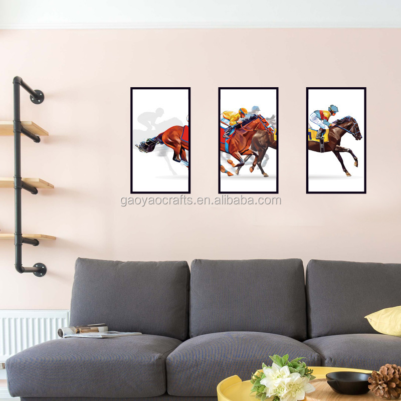 Caballos marcos pegatinas sofá televisión fondo decorativo etiqueta ...