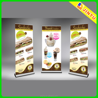 Roll up poster display vertical roll up banner