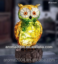solar powered garden animal owl sculpture