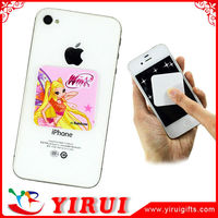 digi printed colored sticky micro fiber cell phone cleaner