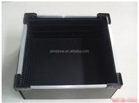 Conductive/ESD plastic handles corrugated sheet box