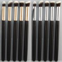 New Pro MakeUp Cosmetic Set Eyeshadow Foundation wood Brush blusher handle Tools 5 PCs 5 colors