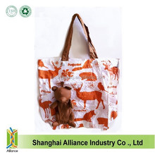 2015 New Style Reusable Brown Bear Folding Shopping Tote Bag