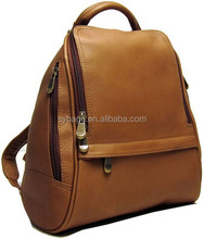 2014 Simple style women leather backpack brown leather backpack